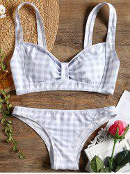Plaid Bow Bikini -
