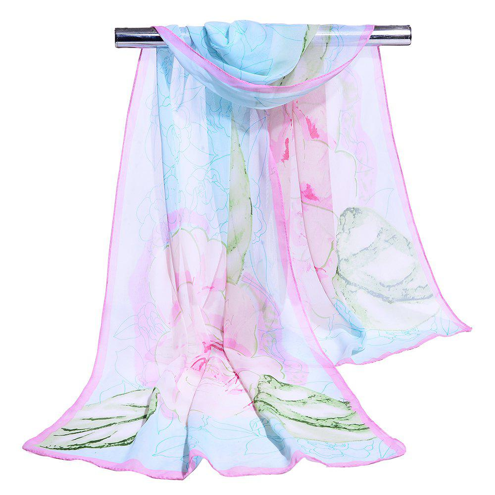 Shop Flourishing Flowers Decorated Silky Scarf