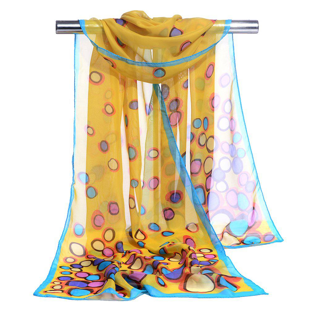Online Cute Color Dot Decorated Spring Autumn Scarf