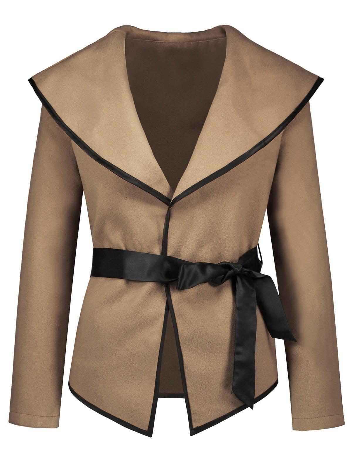 Hot Turn Down Collar Jacket with Belt