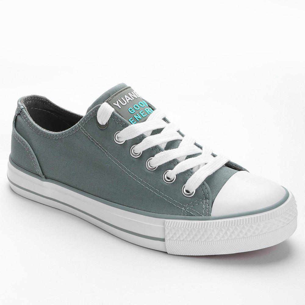 Trendy Lace Up Low Top Skate Shoes