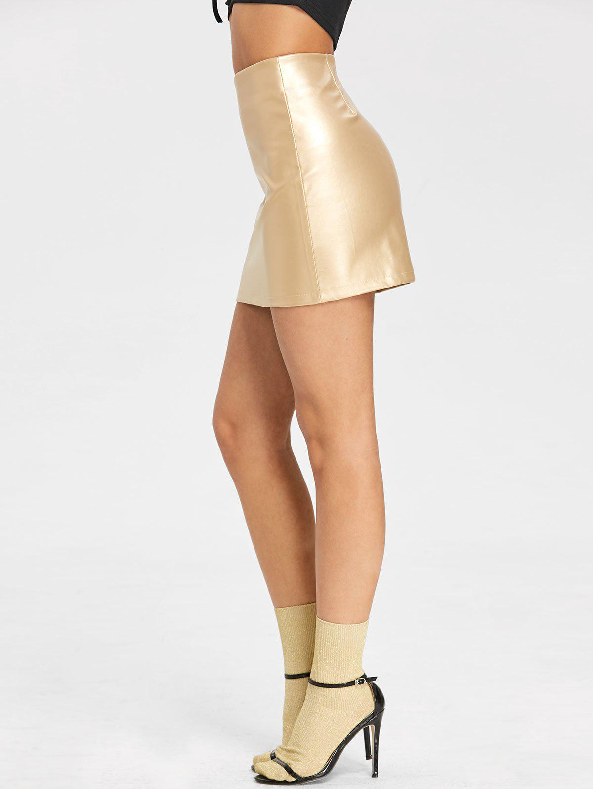 Chic High Waisted Sparkle Bodycon Skirt