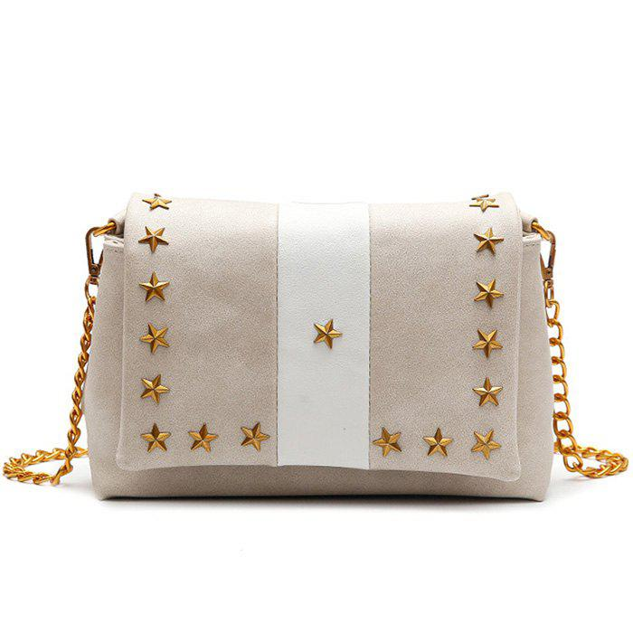 Fancy Contrasting Color Stars Striped Crossbody Bag