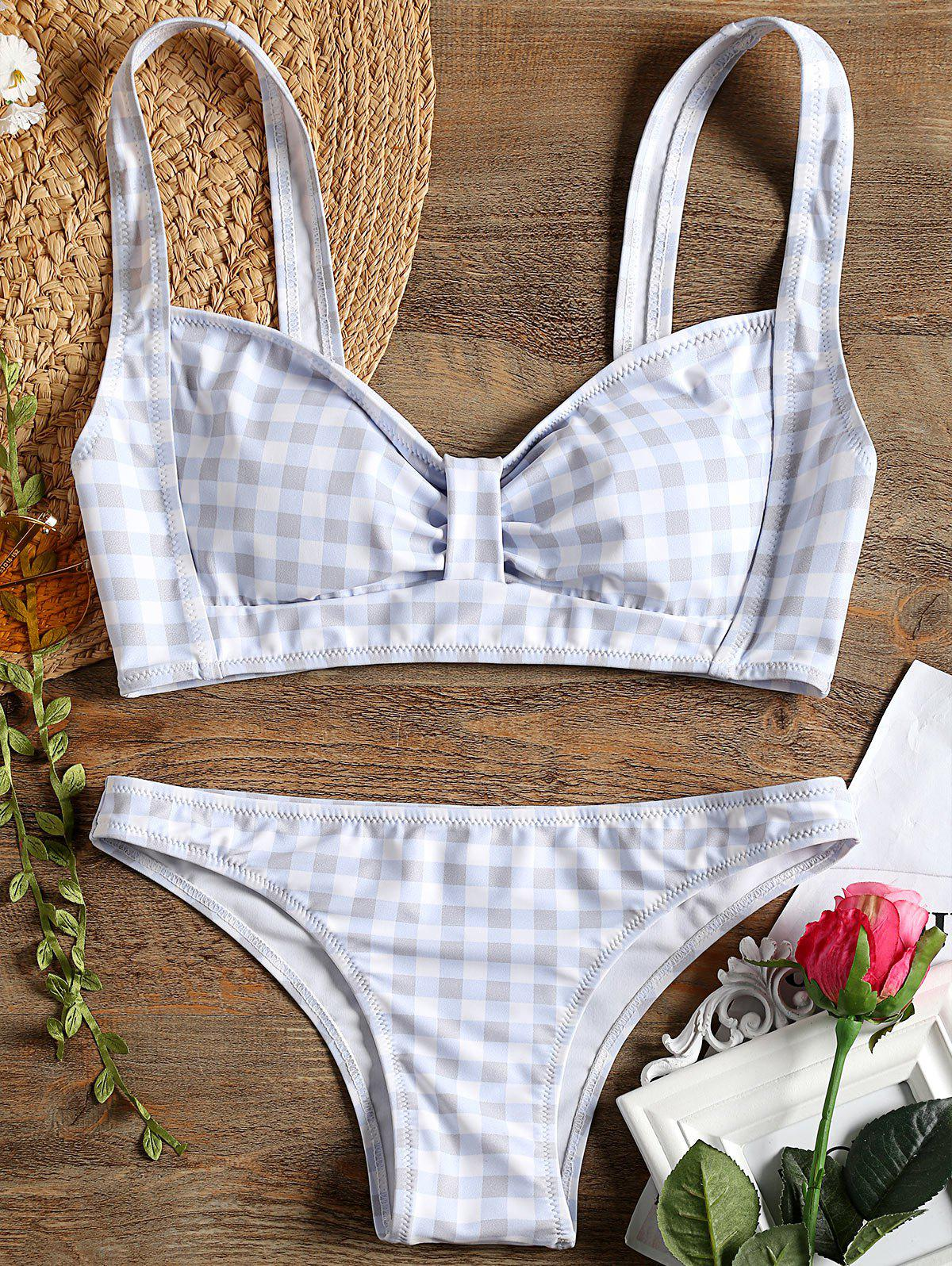 Shops Plaid Bow Bikini