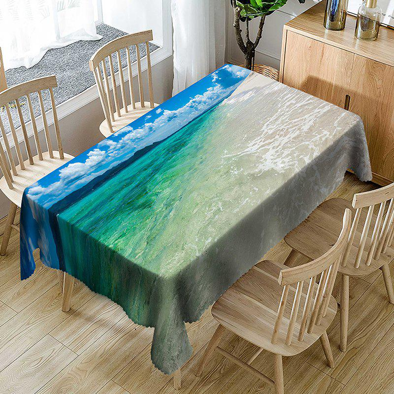 Trendy Ocean Clouds Sky Print Table Cloth