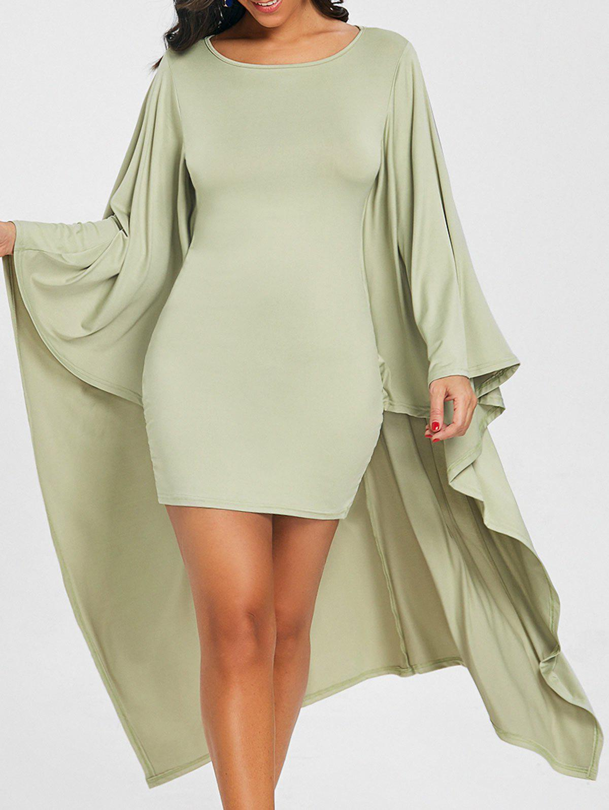 Shop Batwing Sleeve Capelet Bodycon Dress