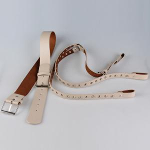 Vintage Rivet Embellished Punk Harness Faux Leather Belt -