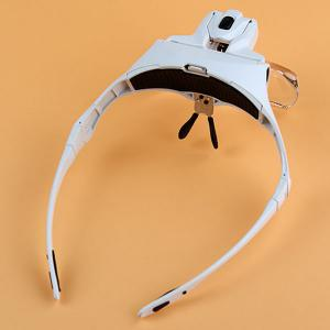 LED Head Light and Eyeglass Frame Magnifier -