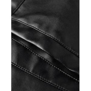 Full Zip Faux Leather Jacket -