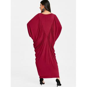 Batwing Sleeve Maxi Kaftan Dress -