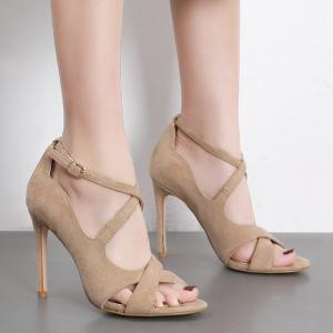 Cross-strap Peep Toe Sandals -
