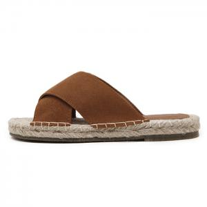 Outdoor Whipstitch Cross Casual Slippers -