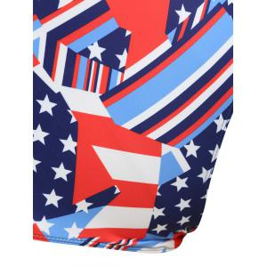 Plus Size Patriotic American Flag Swimsuit -