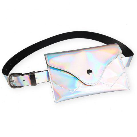 Hot Fanny Pack Embellished Faux Patent Leather Skinny Belt