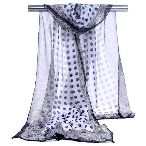 Fashion Polka Dot Pattern Lightweight Chiffon Scarf