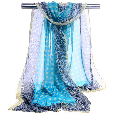 Outfits Polka Dot Pattern Lightweight Chiffon Scarf