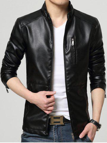 Store Full Zip Faux Leather Jacket