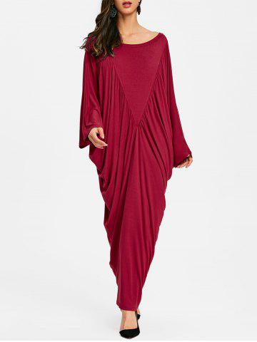 Unique Batwing Sleeve Maxi Kaftan Dress