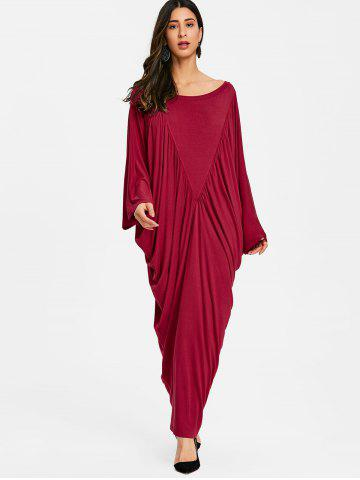 Batwing Sleeve Maxi Kaftan Dress