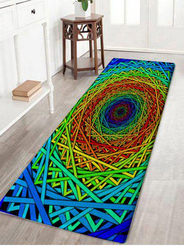 Unique Abstract Psychedelic Geometric Water Absorption Bath Rug