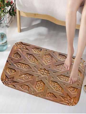 Fancy Carving Wood Pattern Water Absorption Bath Mat
