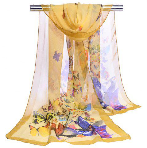 Outfit Flying Butterflies Pattern Chiffon Silky Scarf