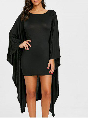 Outfits Batwing Sleeve Capelet Bodycon Dress