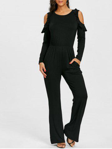 Affordable Cold Shoulder Wide Leg Jumpsuit