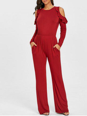 Latest Cold Shoulder Wide Leg Jumpsuit