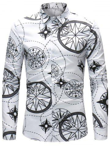 New Compass and Line Pattern Shirt