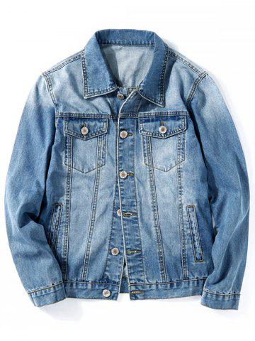 Outfits Chest Pocket Classic Jean Jacket