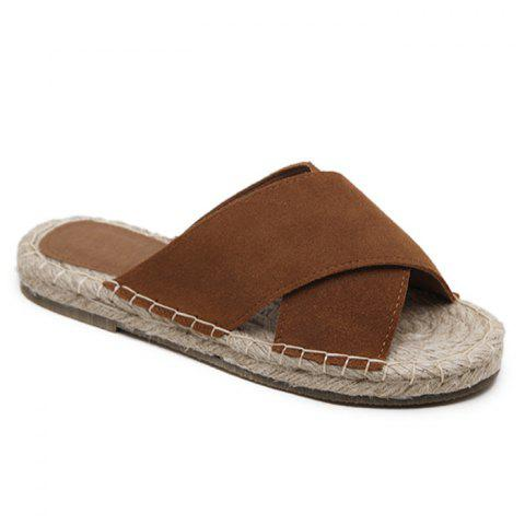 Hot Outdoor Whipstitch Cross Casual Slippers