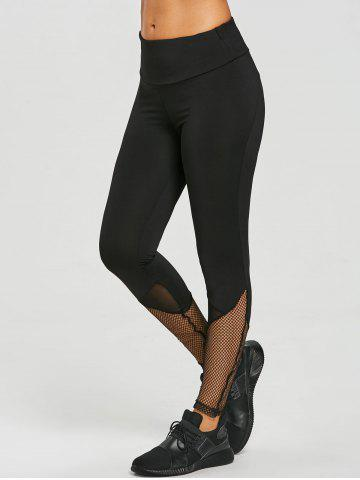 Online Fishnet Panel Sports Workout Leggings