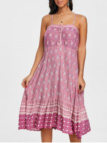 Chic Bohemian Baroque Print Cami Dress