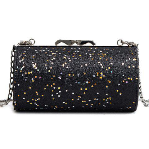 Store Shimmer Chain Circular Crossbody Bag