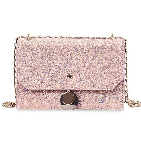 Hot Glitter Blink Crossbody Bag with Chain