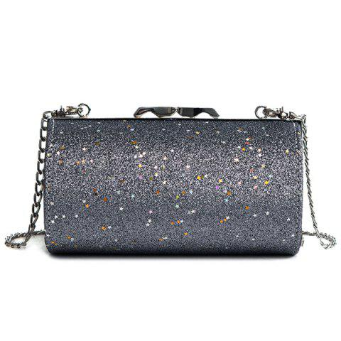 Online Shimmer Chain Circular Crossbody Bag