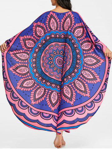 Fashion Tribal Print Butterfly Sleeve Long Cover Up