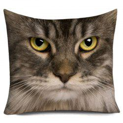 Cat Head 3D Print Throw Pillowcase -