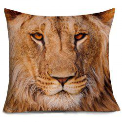 Lion Head 3D Print Decorative Pillowcase -