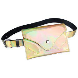 Fanny Pack Embellished Faux Patent Leather Skinny Belt -