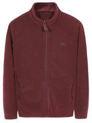 Zip Up Veste polaire brodée -