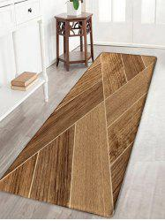 Geometric Wood Art Printed Water Absorption Bath Rug -