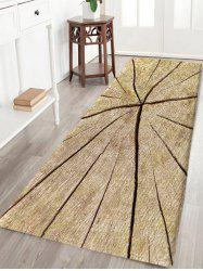 Crack Wood Print Water Absorption Area Rug -