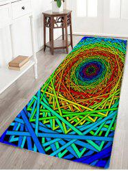 Abstract Psychedelic Geometric Water Absorption Bath Rug -
