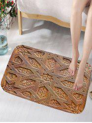 Carving Wood Pattern Water Absorption Bath Mat -