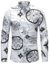 Compass and Line Pattern Shirt -