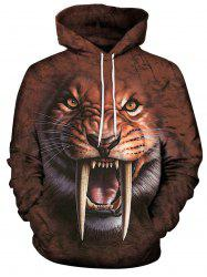 Sweat-shirt à capuche imprimé tigre Fierce 3D -