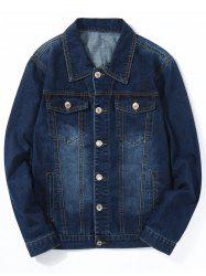 Chest Pocket Jean classique veste -