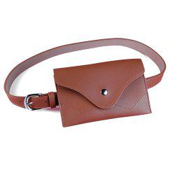 Removable Fanny Pack Embellished Faux Leather Skinny Belt -